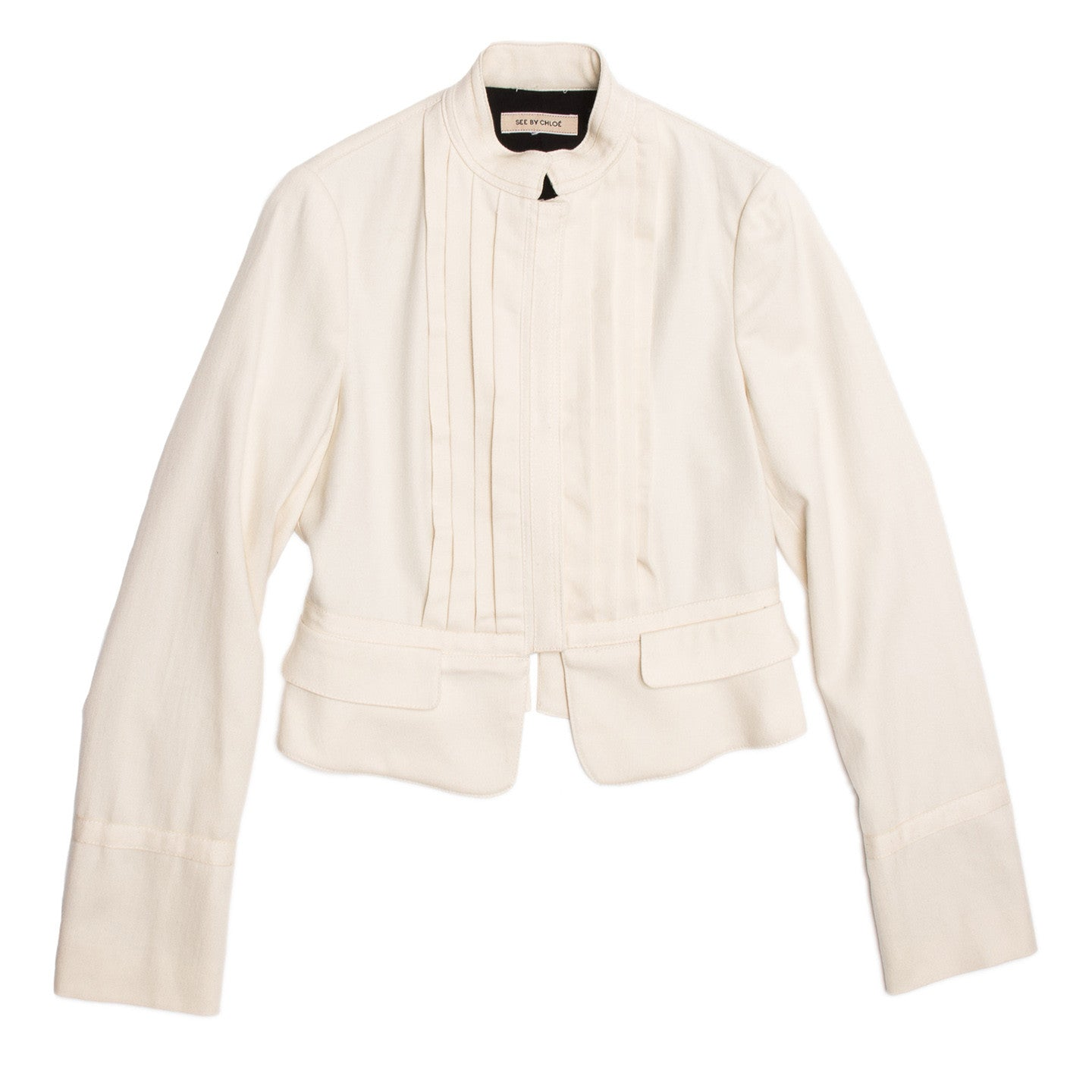 See By Chloe Cream Bellboy Cut Jacket, Size 46 (Italian)