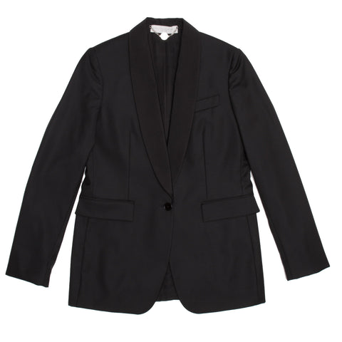 Find an authentic preowned Stella McCartney Black Wool Tux Style Jacket, size 44 (Italian) at BunnyJack.