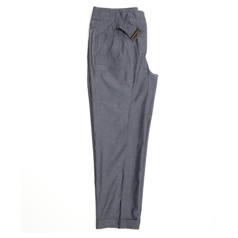 Find an authentic preowned Stella McCartney Grey Check Pleated Pants, size 46 (Italian) at BunnyJack.