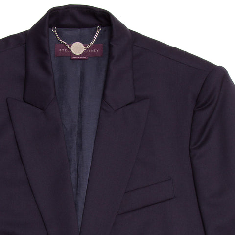 Find an authentic preowned Stella McCartney Navy Wool Blazer Navy Buttons, size 46 (Italian) at BunnyJack.