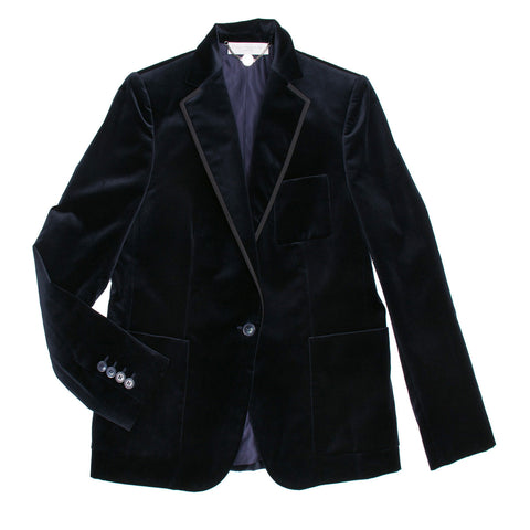 Stella McCartney Blue Cotton Velvet Blazer, size 46 (Italian)