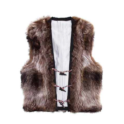 Thom Browne Raccoon Fur Vest, size 0