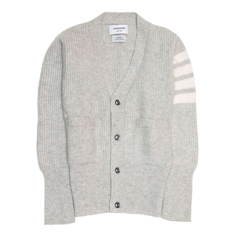 Thom Browne Light Grey Cashmere Cardigan, size XS