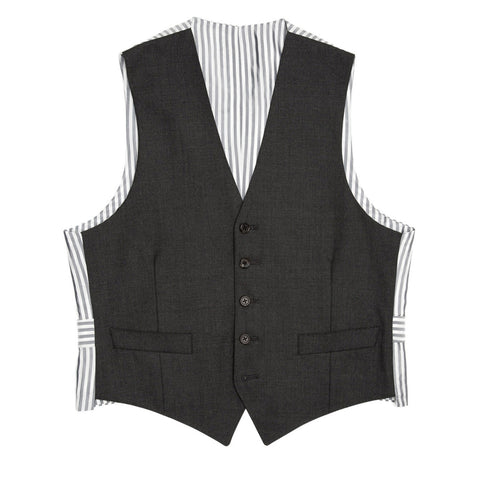Thom Browne Charcoal Grey Wool Vest, size 1