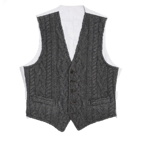 Thom Browne Dark Grey Knit Cashmere Vest, size 1