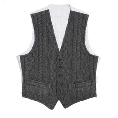 Find an authentic preowned Thom Browne Dark Grey Knit Cashmere Vest size 1 at BunnyJack, where a portion of every sale goes to charity.