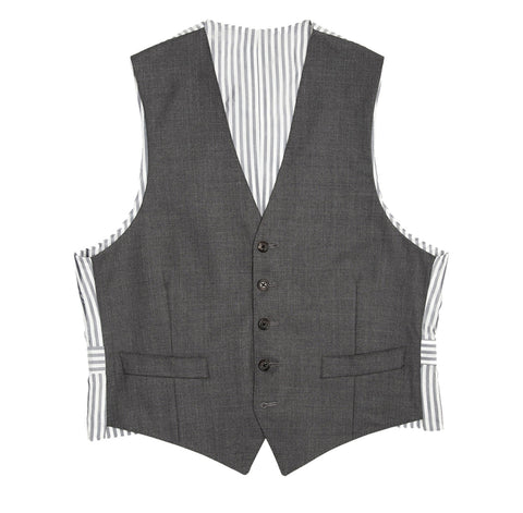 Thom Browne Heather Grey Wool Vest, size 1