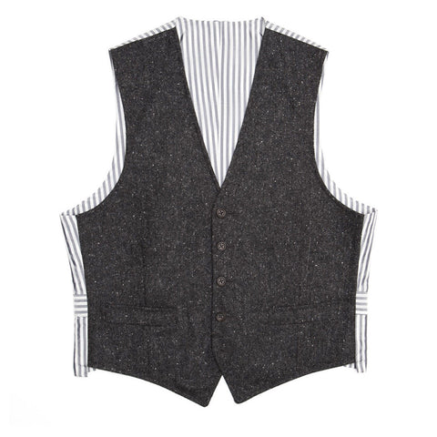 Thom Browne Grey & Ivory Tweed Vest, size 1