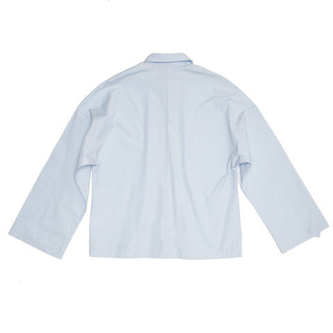 Find an authentic preowned Givenchy Sky Blue Kimono Sleeved Shirt, size 42 (French) at BunnyJack, where a portion of every sale goes to charity.