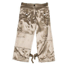 Khaki Sateen Cargo Pants