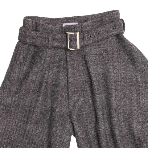 Grey Wool Wide Legged Pants