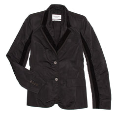 YSL Black Fitted Tuxedo Style Jacket, Size 40 (French)