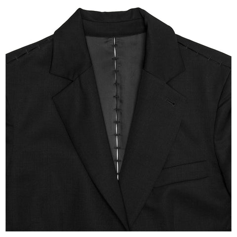 YSL Black Blazer With Embellished Seams, Size 42 (French)