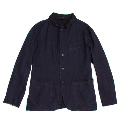 Navy Cotton Reversible Jacket For Man