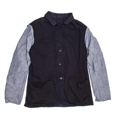 Find an authentic preowned 45 RPM Navy Cotton Reversible Jacket For Man, size XL at BunnyJack.