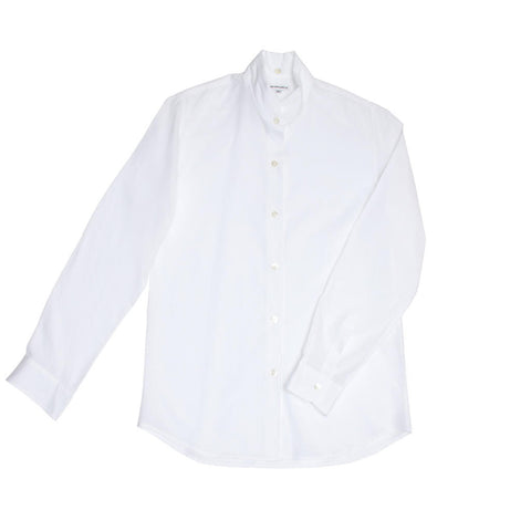 White Cotton Shirt With Collar Detail