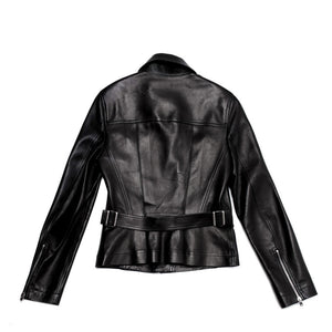 Find an authentic preowned Azzedine Alaia Black Leather Moto Jacket size 42 (French) at BunnyJack, where a portion of every sale goes to charity.