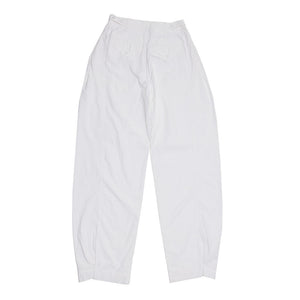 Balenciaga White High Waisted Trousers, Size 40 (French)