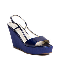Find authentic preowned Jill Sander Royal Blue Wedge Sandals size 41 (Italian) at BunnyJack, where a portion of every sale is donated to charity.