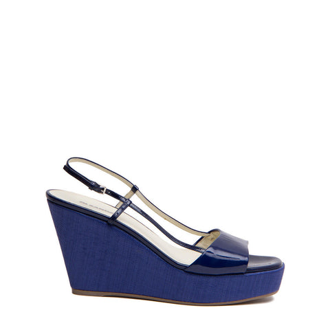 Jill Sander Royal Blue Wedge Sandals, size 41 (Italian)