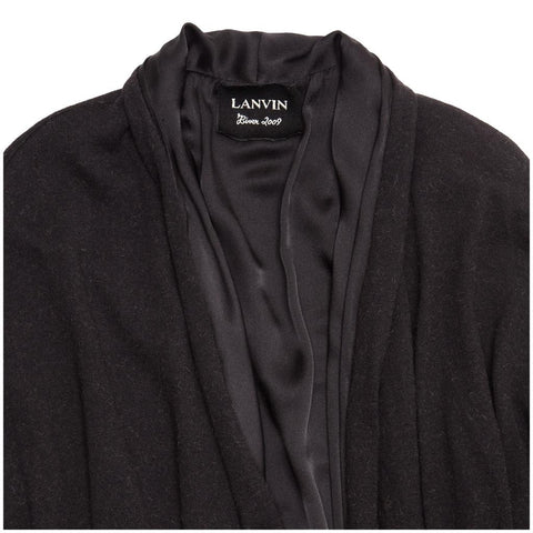 Find an authentic preowned Lanvin Charcoal Grey Camel Hair Cardigan, size M at BunnyJack, where a portion of every sale goes to charity.