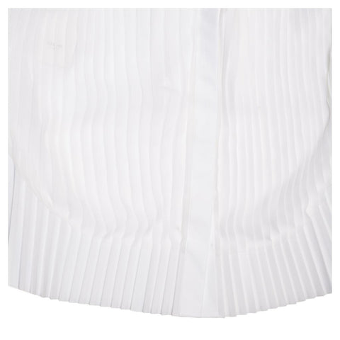 Find an authentic preowned Celine White Cotton & Chiffon Sleeveless Shirt, size 38 (French) at BunnyJack, where a portion of every sale goes to charity.