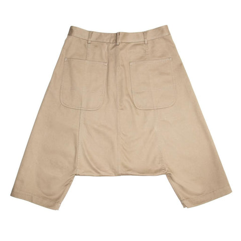 Comme Des Garcons Khaki Cotton Dropped Crotch Pants, Size L