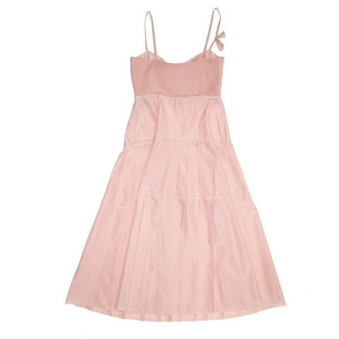 Find an authentic preowned Jil Sander Pink Bustier Pleated Dress, size 40 (French) at BunnyJack, where a portion of every sale goes to charity.