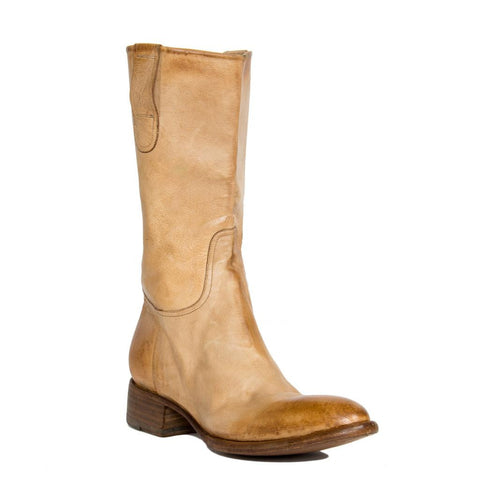 Tan Distressed Leather Boots