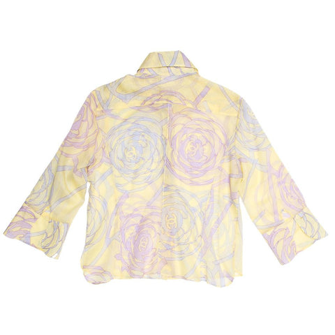 Find an authentic preowned Chanel Multicolor Sheer Cotton Shirt, size 42 (French) at BunnyJack, where every sale triggers a charity donation.