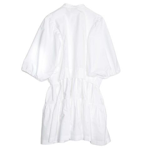Chloe White Cotton Dress, Size 42 (French)