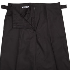 Find an authentic preowned Jil Sander Black Cotton Gaucho Slacks, size 42 (French) at BunnyJack, where a portion of every sale goes to charity.