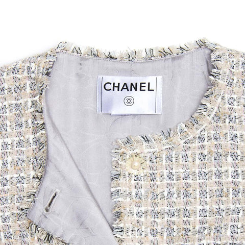 Find an authentic preowned Chanel Multicolor Cotton Tweed Jacket, size 40 (French) at BunnyJack, where every sale triggers a charity donation.