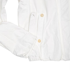 Find an authentic preowned Jil Sander White Leather Bomber Jacket, size 40 (French) at BunnyJack, where a portion of every sale goes to charity.