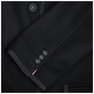 Find an authentic preowned Thom Browne Black Wool & Cashmere Coat size 2 at BunnyJack, where a portion of every sale goes to charity.