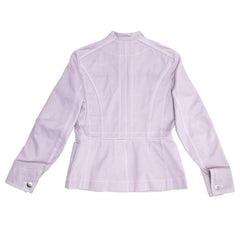 Louis Vuitton Lavender Cotton Fitted Jacket, Size 42
