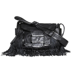 Find the Pierre Hardy Black Nappa Leather Fringe Bag on BunnyJack.