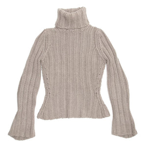 YSL Grey Cashmere Turtleneck Sweater, Size L