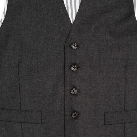 Find an authentic preowned Thom Browne grey wool vest size 1 at BunnyJack, where a portion of each sale price is donated to charity.