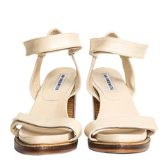 Find an authentic preowned Ann Demeulemeester Beige Velcro Straps Sandals, size 40 (Italian) at BunnyJack.