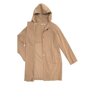 Find an authentic preowned Jil Sander Khaki Hooded Tent Coat, size 40 (French) at BunnyJack, where a portion of every sale goes to charity.