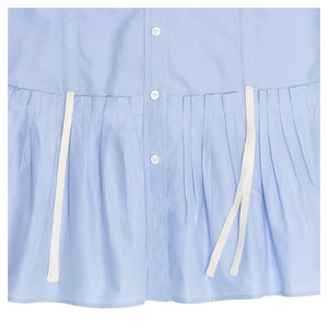 Louis Vuitton Sky Blue Pleated Shirt Dress, Size 40 (French)