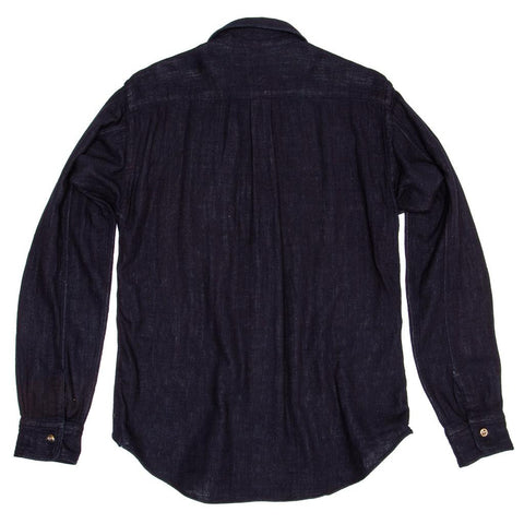 Find an authentic preowned 45 RPM Dark Blue Cotton Shirt For Man, size 4 at BunnyJack.