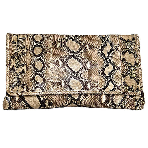 Find pre-owned Prada python large clutch bag at BunnyJack, where up to 50% of each sale price is donated to a deserving charity.