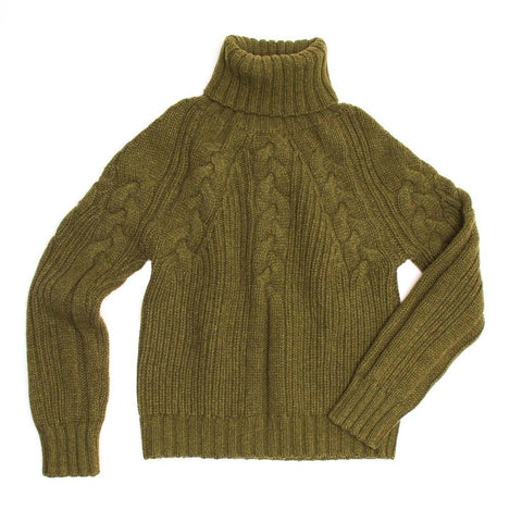 Find an authentic preowned Proenza Schouler Musk Green Cashmere Sweater, size L at BunnyJack.