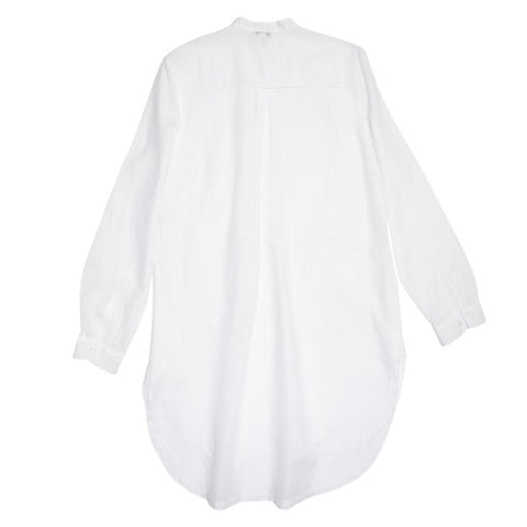 Chloe White Striped Jacquard Long Shirt, Size 44 (French)