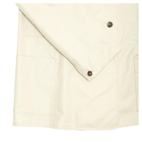 Find an authentic preowned Jil Sander Ecru Double Breasted Raincoat, size 40 (French) at BunnyJack, where a portion of every sale goes to charity.