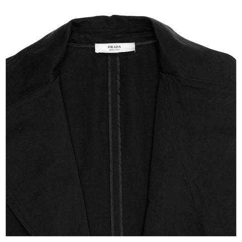 Find an authentic preowned Prada Black Cotton Blazer size 44 (Italian) at BunnyJack, where up to 50% of each sale price is donated to charity.
