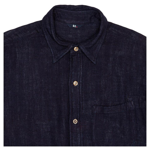 Dark Blue Cotton Shirt For Man