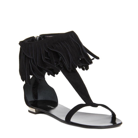 Find authentic preowned Balmain Black Suede Fringed Sandals size 40.5 (Italian) at BunnyJack, where a portion of every sale goes to charity.
